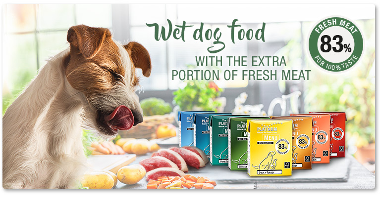 The PLATINUM wet dog food recipe: Fresh meat, full flavour!
